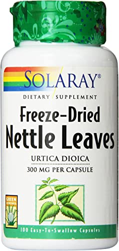 Solaray Freeze-Dried Nettle Leaf Capsules, 300 mg, 100 Count