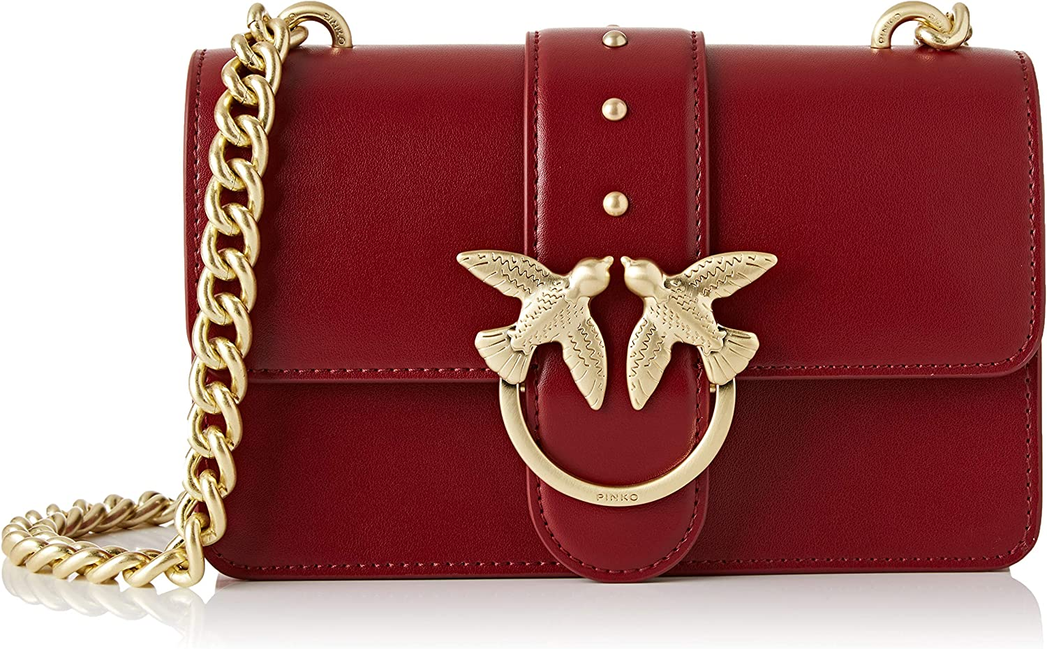 Amazon Com Pinko Cross Body Bag Dark Red Shoes
