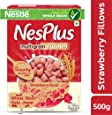 Nestlé NesPlus Breakfast Cereal, Multigrain Fillows – Strawberry-Burst, 500g Carton