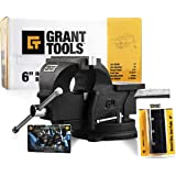 """Grant Tools 6"""" Heavy Duty Swivel Bench Vise 
