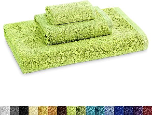 Eiffel Textile Juego de Toallas Calidad Rizo 400 gr, Algodón Egipcio 100%, Lima, Tocador Lavabo y Ducha, 3 Unidades: Amazon.es: Hogar