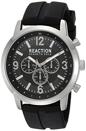 025bd74ae5b Kenneth Cole REACTION Men s Sport Japanese-Quartz Watch with Silicone Strap