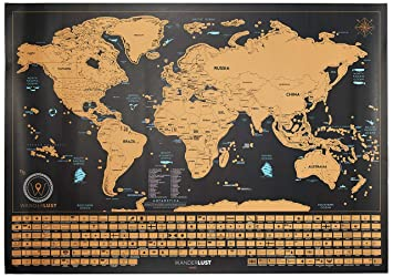 Amazon Scratch f World Map XL Edition Premium Scratch f