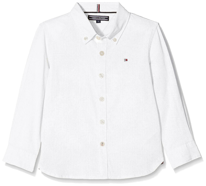 06b94cf3 Tommy Hilfiger Boy's AME Stretch Oxford Shirt L/S Blouse: Amazon.co.uk:  Clothing