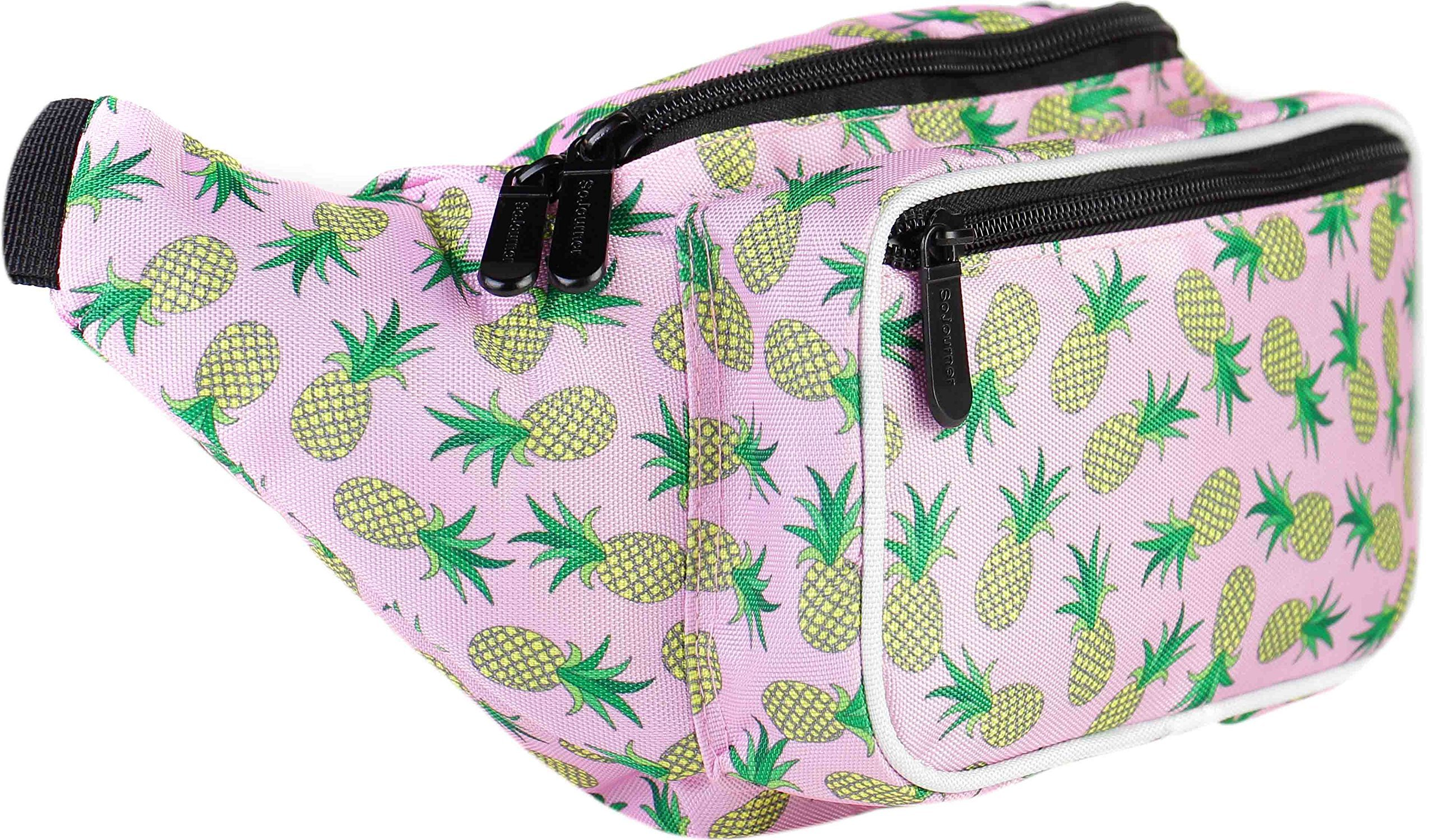 SoJourner Pineapple Fanny Pack - Cute Packs for men, women festivals raves | Waist Bag Fashion Belt Bags