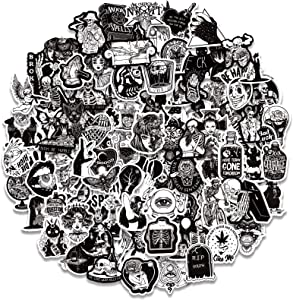 100PCS Cool Gothic Stickers Pack for Teens, Vinyl Punk Gothic Stickers for Water Bottle, Computer, Skateboard, Tablet, Luggage, Phone, Notebook, Trendy Aesthetic Decal for Laptop