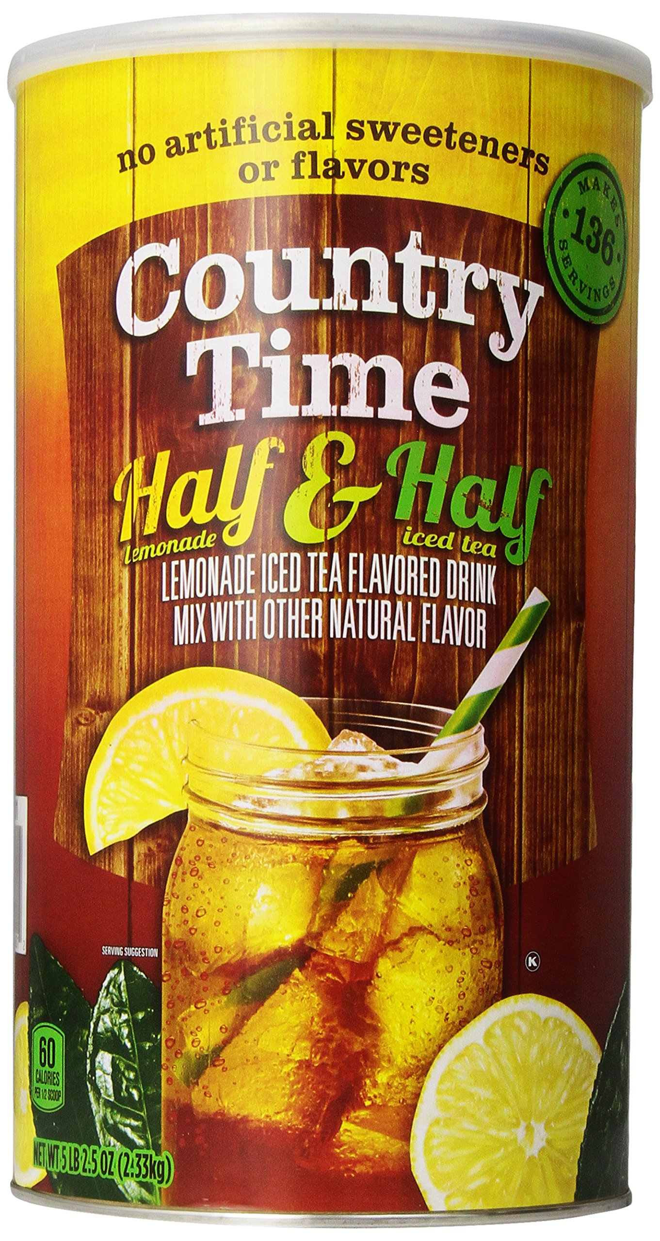 Country Time Flavored Drink Mix, Half Lemonade Half Iced ...