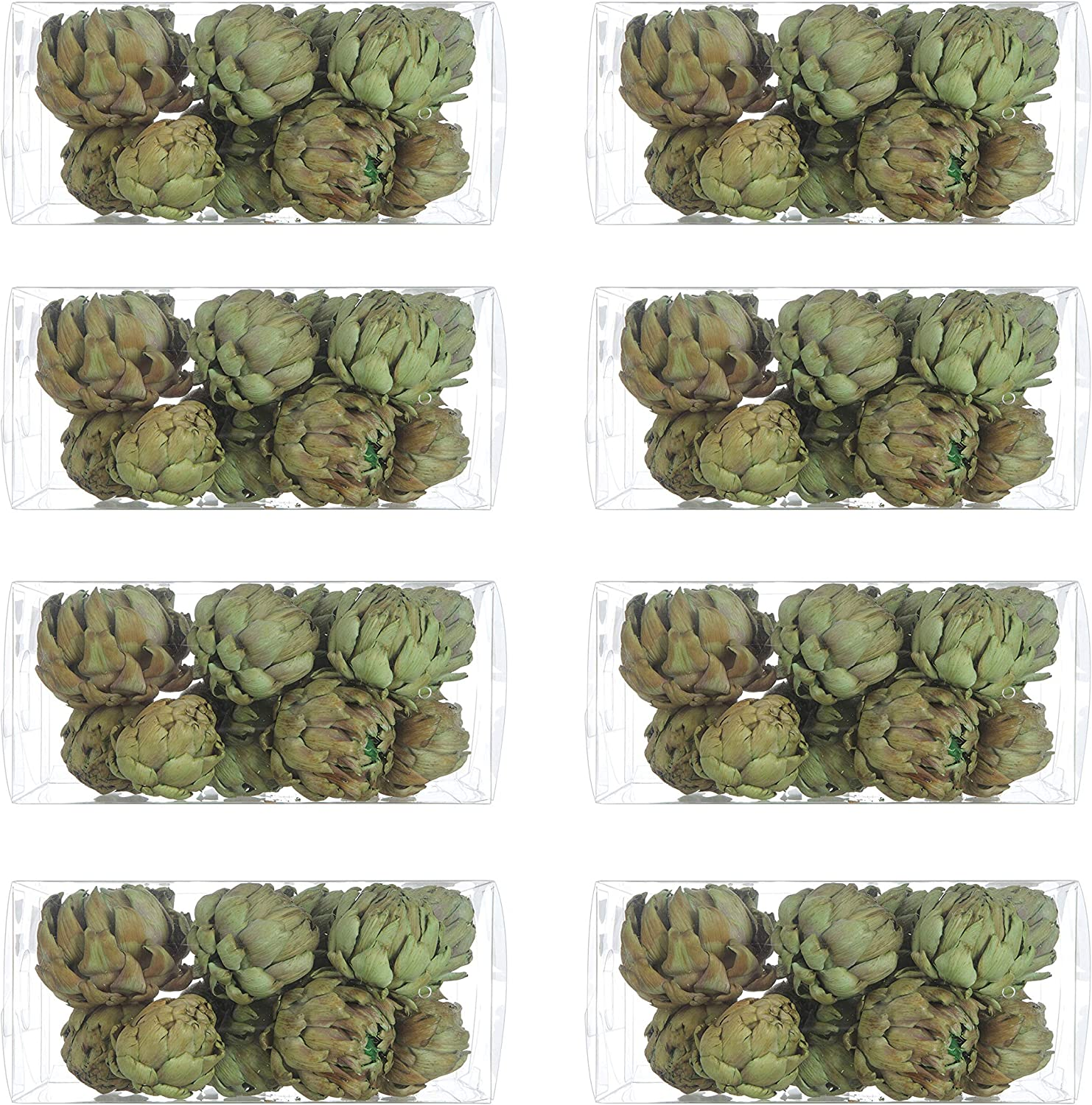 """Creative Co-op 3"""" Dried Natural Artichokes (Set of 72 Pieces) Artificial Plants, Green"""