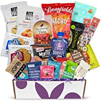 High Protein Fitness Healthy Snack Box: Premium Mix of Healthy Gourmet Protein Snacks On The Go Meal Replacements, Perfect Fitness Care Package Gifts for Military, Athletes