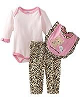 Bon Bebe Baby-girls Newborn Perfect Little Baby 3 Piece Pant Set