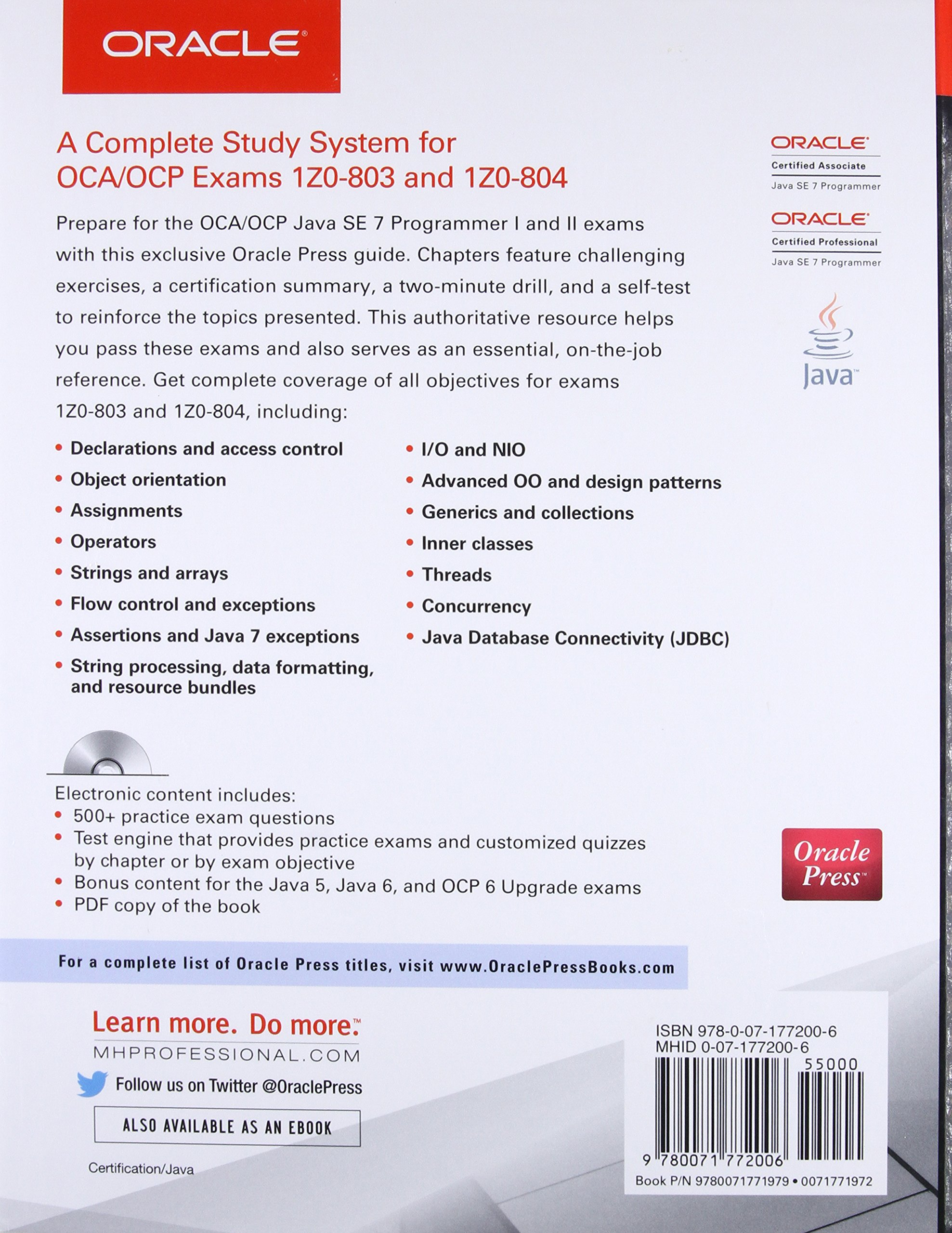 OCA/OCP Java SE 7 Programmer I & II Study Guide Exams 1Z0-803 & 1Z0 ...