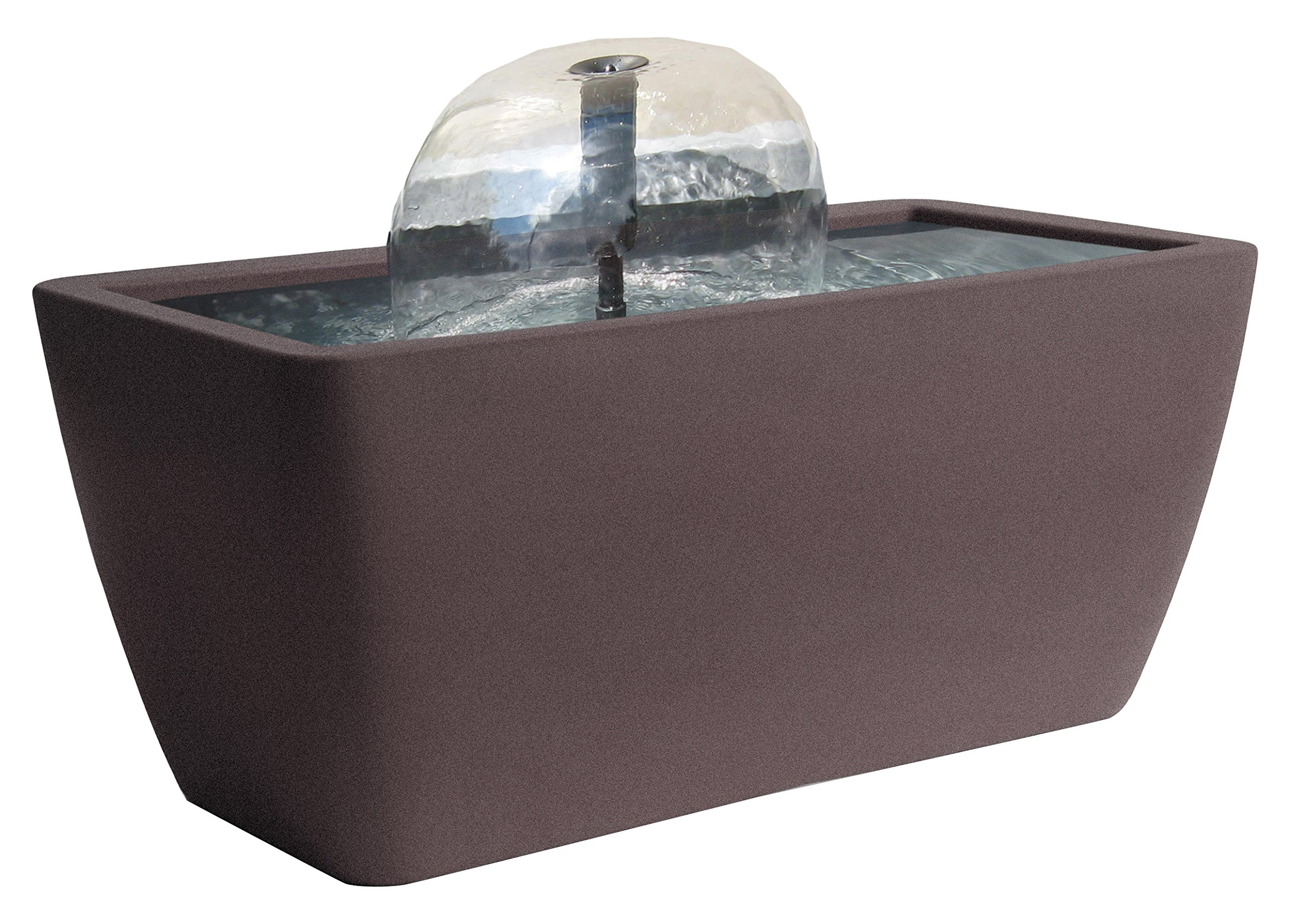 Algreen 36311 Manhattan Pond Kit Fountain with LED Light, Brownstone by Algreen