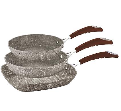 Tris de sartenes (piedra Berlinger Haus aptos para la cocina de inducción – bh-