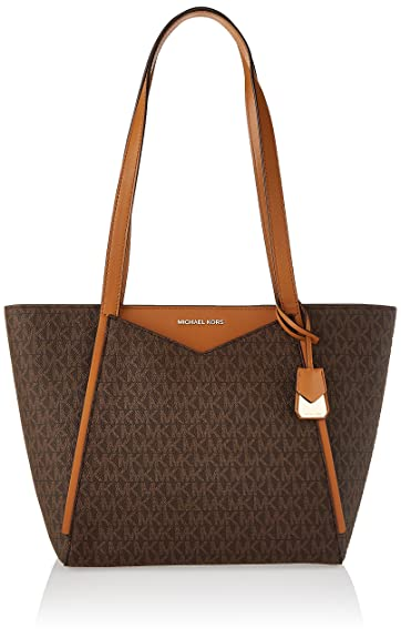 Michael Kors Damen M Group Sm Tz Tote, Braun (Brown), 14.5