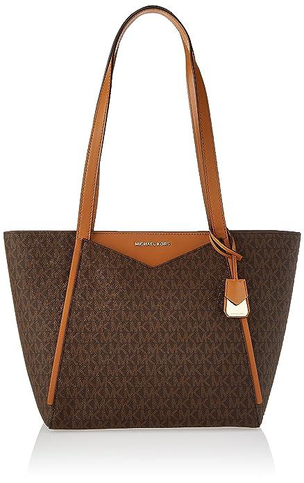 1b64a78f08 Michael Kors Womens M Tote Group Sm Tz Tote Tote Brown (Brown)  Handbags   Amazon.com