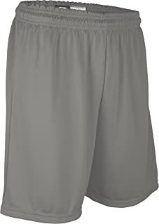 """product image for PT6477Y Youth Boy's and Girl's 7"""" Basketball High Performance Athletic Short (Youth Small, Gray)"""