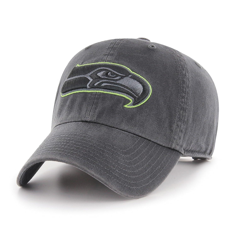 Dark Charcoal One Size OTS NFL Seattle Seahawks Mens Challenger Adjustable Hat