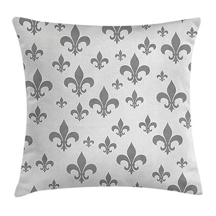 Amazoncom Ambesonne Fleur De Lis Decor Throw Pillow Cushion Cover