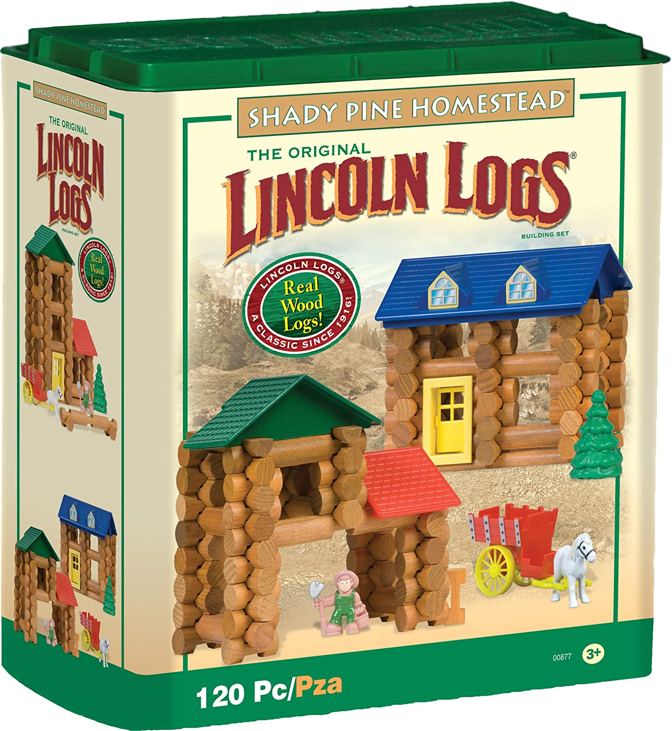 Lincoln Logs Shady Pine Homestead 120 Pc 00877