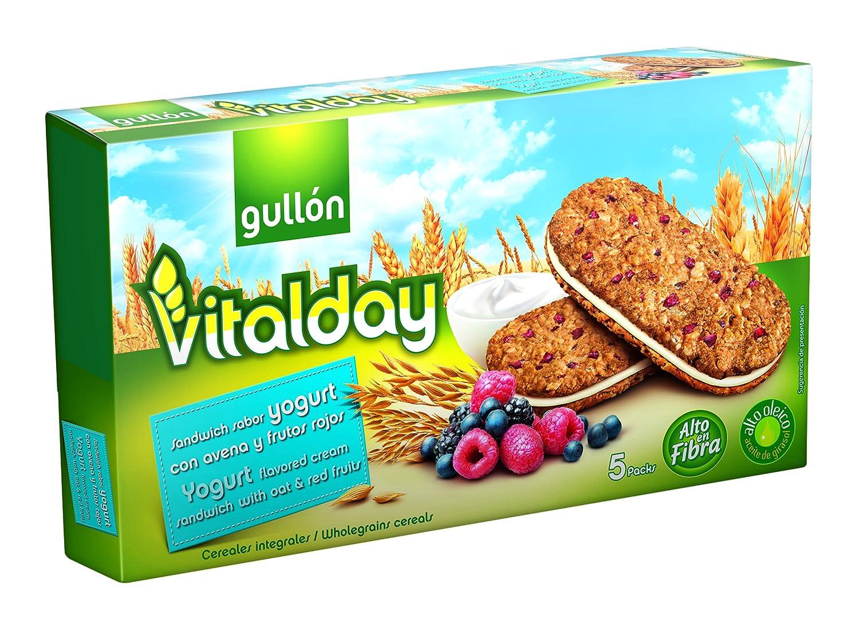 Gullón Vitalday Sandwich Yogur Galleta Desayuno y Merienda - Paquete de 5 x 44 gr - Total: 220 gr