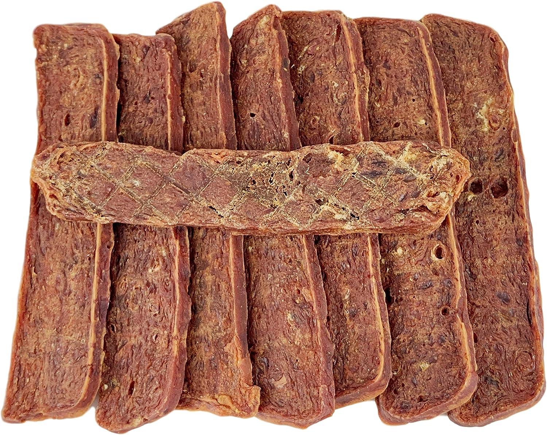 AVANZONA Golosinas para Perros, Snacks de Tiras de Cordero, 100% Carne de Cordero Que promueve la digestión. Nutritivo y Masticar para Perros pequeños ...