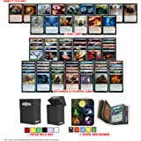 Totem World Magic The Gathering Holiday Lot: 5 Rares, 100 Uncommon / Common MTG Cards with a Totem Mini Binder & Deck…