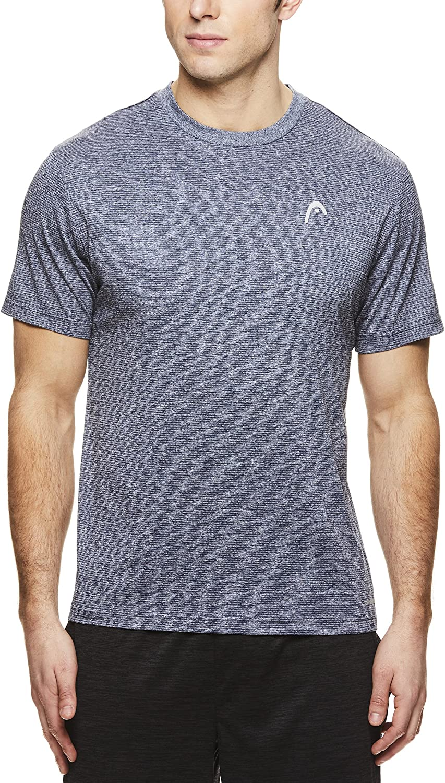 HEAD Men's Crewneck Gym Training & Workout T-Shirt - Short Sleeve Activewear Top