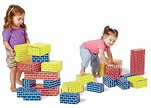 Edushape 709084 Corrugated Blocks (Set of 84)