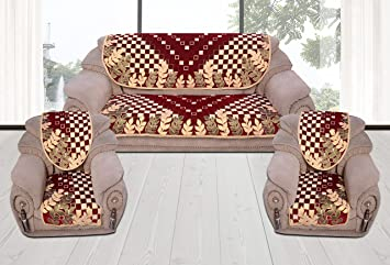 Fresh From Loom Sofa Cover 5 Seaters - Red