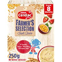 Nestle CERELAC Farmer's Selection 5 Cereals, Quinoa, strawberry, passion fruits Infant Cereal from 8 months 250g