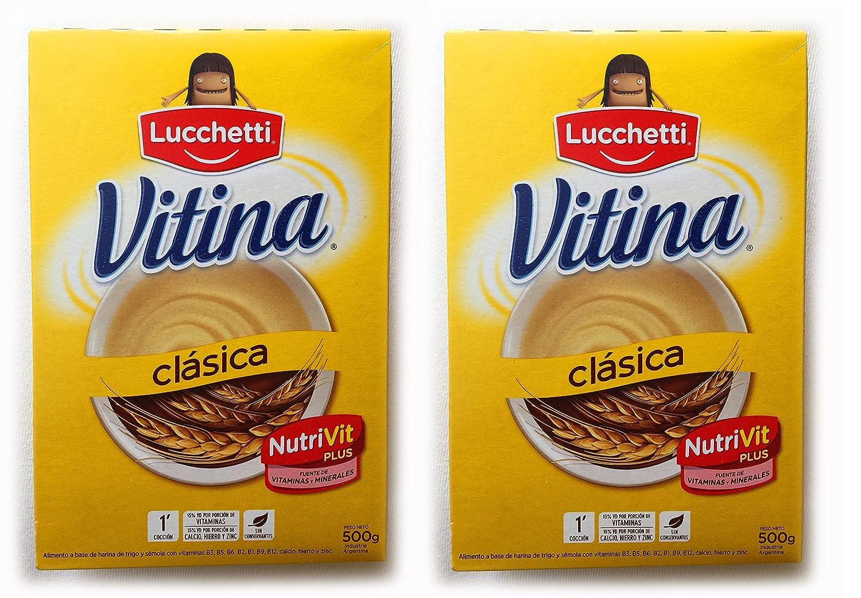 Amazon.com : VITINA Clasica Alimento a Base de Semola y Trigo 500 gr.- 2 Pack | Semolina and Wheat-based Food 1.1 lb. - 2 Pack : Grocery & Gourmet Food