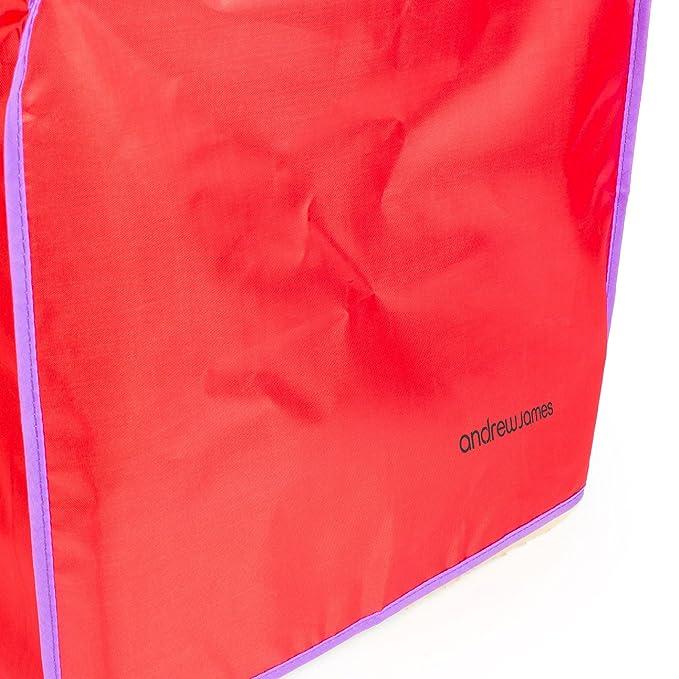 Andrew James pan eléctrica el polvo en rojo, 40 x 26 x 38 cm, apto ...