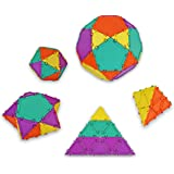 Geometiles 3D Building Set for Learning Math, Includes Online Activity Books, Mini Set 1, 32-pc, Made in USA