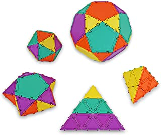 product image for Geometiles 3D Building Set for Learning Math, Includes Many Online Activities, 32-pc, Made in USA (Pentagon/Triangle)