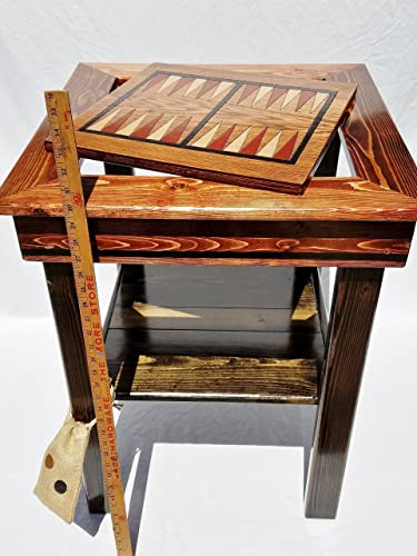 Backgammon / Chess Or Checkers Game Table, Indoor / Outdoor Wood Furniture