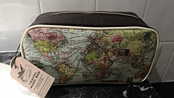 Amazon wild wolf brown mens travel range dopp kit vintage wild wolf brown mens travel range dopp kit vintage world map style travel luggage toiletry gumiabroncs Image collections
