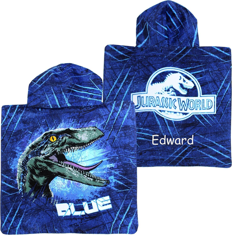 Personalised Jurassic World Dinosaur Hooded Poncho Bath Towel