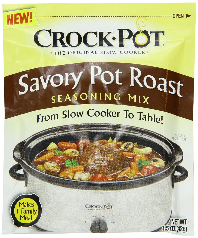 Crock Pot Seasoning Mix, Savory Pot Roast, 1.5 Ounce (Pack of 12)
