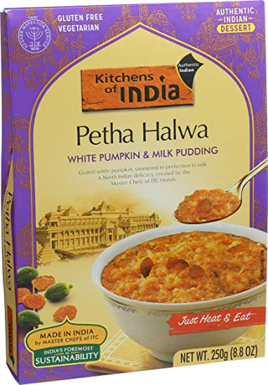 Kitchens Of India Ready to Eat Petha Halwa, White Pumpkin And Milk Pudding,  8 8-Ounces (Pack of 6)