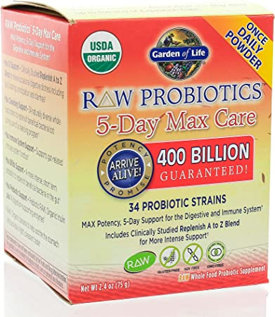 Garden Of Life Raw Probiotics 5 Day Max Care 75 G Amazon Co Uk Health Personal Care