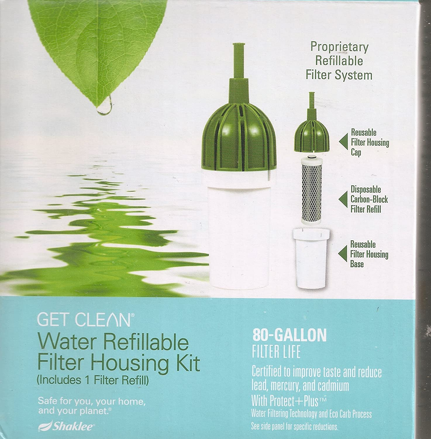 Amazon.com: Shaklee Get Clean Water Refillable Filter Housing Kit ...