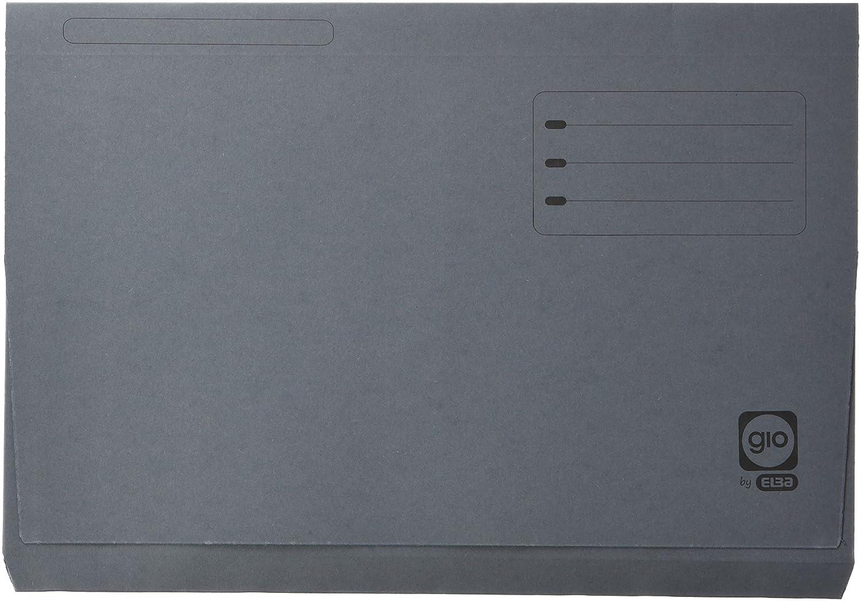 Elba Gio –  Confezione di 25 cartelline con borsa e portafoglio, Verde, colore: grigio Hamelin Brands 400084212