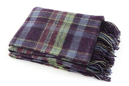 "Amazon John Hanly Plaid Throw Blanket Wool 40 X 40"" Purple Fascinating Cheap Plaid Throw Blanket"