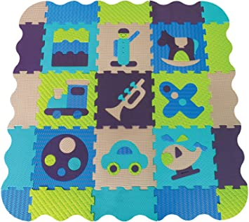 Amazon Com Ludi Foam Mat Blue Baby