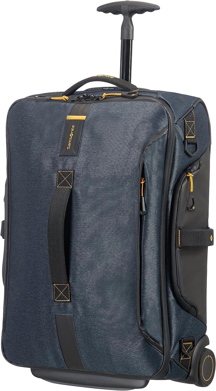 Samsonite Paradiver Light - Bolsa de viaje con ruedas, Azul (Jeans Blue), S (55 cm - 48.5 L)