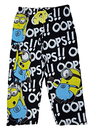 Despicable Me Minions Oops All Over Print Capri Knit Sleep Pants