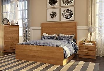 Amazon.com: 3 Piece Storage Bed Set GEORGIA Bedroom Furniture ...