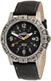 Timex Men's TWSA09100 Quartz Watch with Black Dial Analogue Display and Black Leather Strap