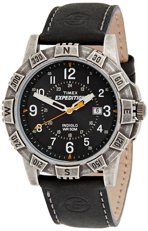 Timex Herren-Armbanduhr Schwarz Analog Leder TWSA09100