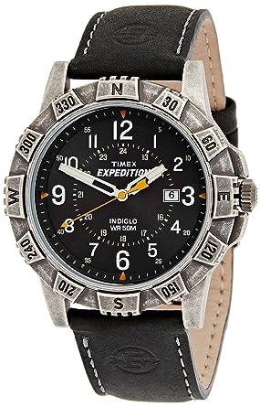 timex men s twsa09100 quartz watch black dial analogue timex men s twsa09100 quartz watch black dial analogue display and black leather strap